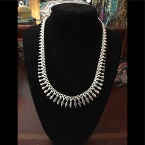 """Sterling silver cleopatra necklace new 17""""tapered"""